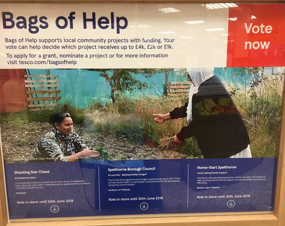 TESCO Bags of Help…Dont forget to vote!