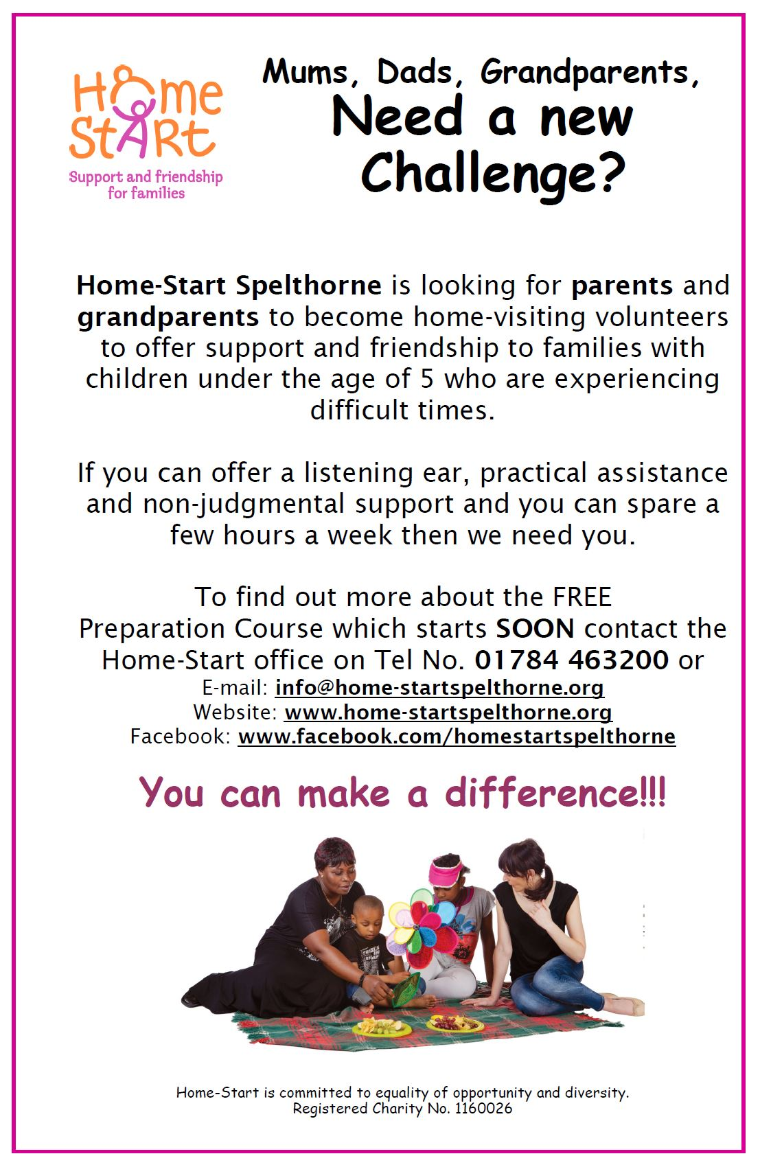 Mums, Dads, Grandparents, Can You Help?