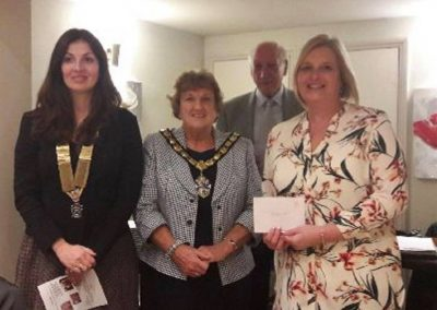 Staines Rotary Cheque presentation