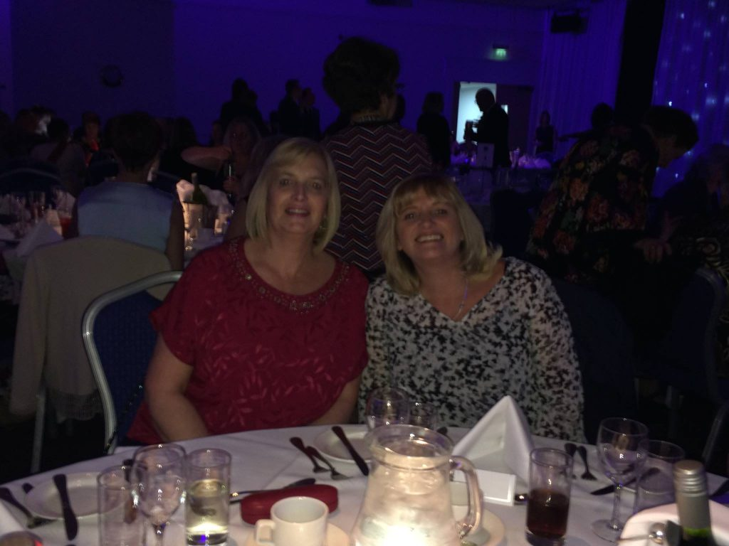 Amanda at Gala dinner and Volunteer Awards