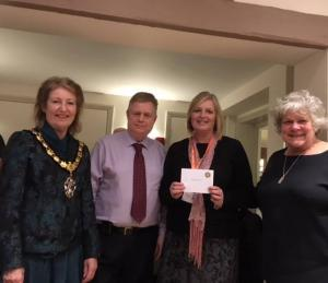 Rotary Club of Staines Cheque Presentation