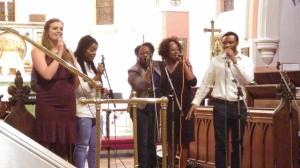 Megan, Afia, Eloho, Shola and Geoffrey at H-S Concert